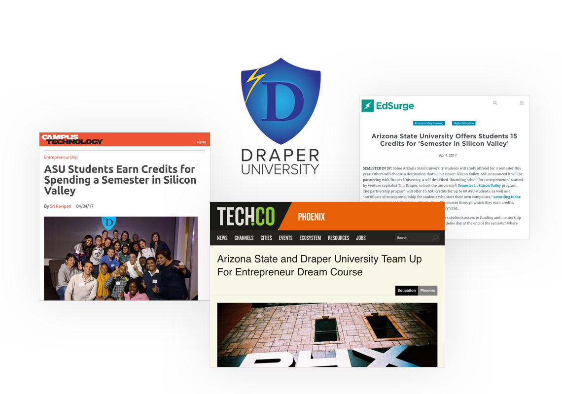 Pictures of Draper University Coverage